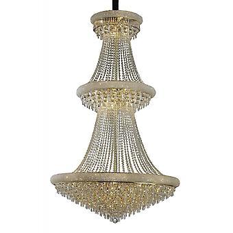 Diyas Alexandra hanger 3 tier 37 licht Frans goud/kristal
