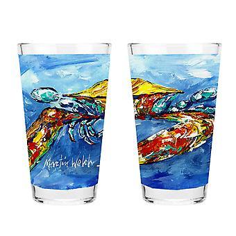 Carolines Treasures MW1170PINT sininen Rapu 16 Unssi sekoitus lasi