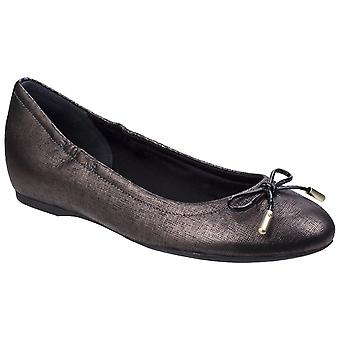 Rockport Womens Tied Ballet Shoe Onyx