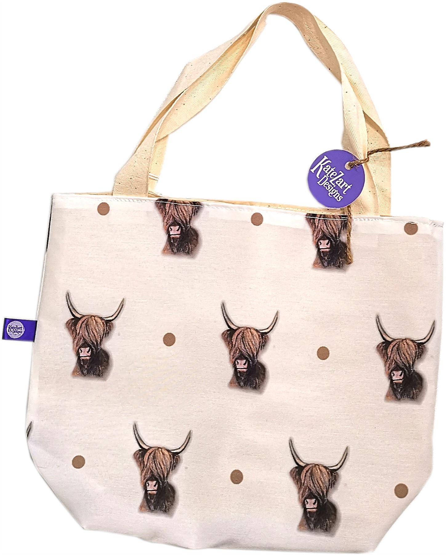 KateZart Designs Highland Cow Tote Bag