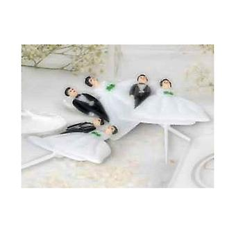 Matrimonio Wedding Picks Cake Decorations (Pack Of 6)