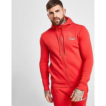 Novos homens McKenzie ' s essencial zip através hoodie vermelho