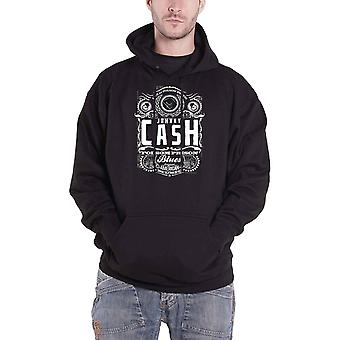 Johnny Cash Hoodie Folsom Prison Logo new Official Mens Black Pullover