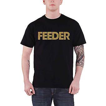 Feeder T Shirt Band Logo gold Echo park new Official Mens Black