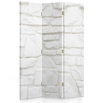 Divisor de habitación, 3 paneles, de doble cara, giratorio 360 ?? • Lienzo, Piedra de Arena de Pared
