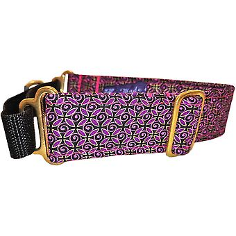 Dogcrafts Martingale lila schwarz Gold rosa Reifen Messing Drop
