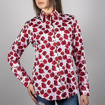 Claudio Lugli Remembrance Poppy Ladies Shirt