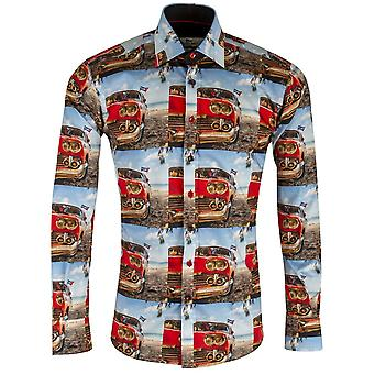 Claudio Lugli Retro Road Trip Mens Shirt