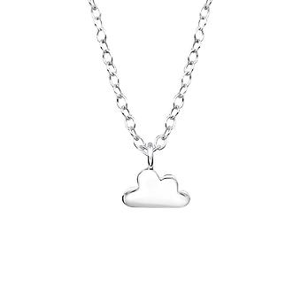 Cloud - 925 Sterling Silver Plain Necklaces - W36660x