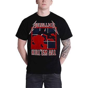Metallica-T-Shirt Kill Em alle Album Cover Band Logo officiële Mens nieuwe zwart