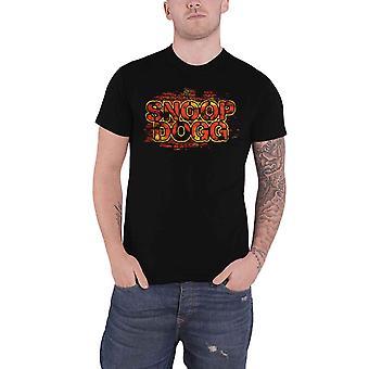 Snoop Dogg T Shirt Red Wall Logo new Official Mens Black