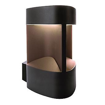 LED exterieur wand lamp Trila antraciet 128x200mm 3000K 6W