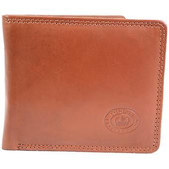 Men's Soft Leather Wallet with Multiple Card Slots and Open Note Compartments