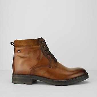 Base London Panzer Mens Leather Casual Boots Tan