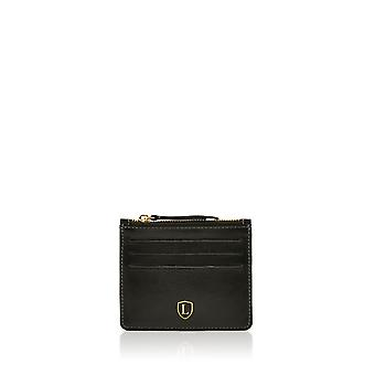 Ascari Leather Card/Coin Holder in Black