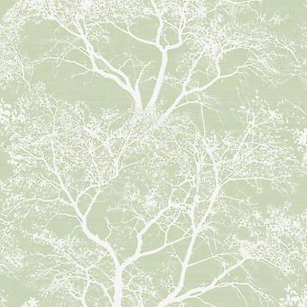 Fluisteren bomen glitter behang groen Holden 65620