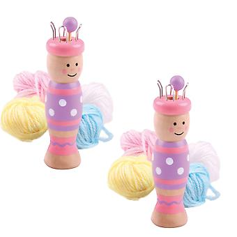 Bigjigs Toys Traditional French Knitting Doll (Pack of 2) Kids Arts Crafts Child