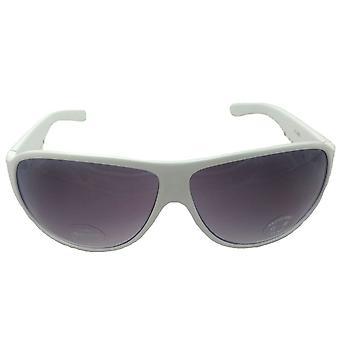 TWO Icon White Sunglasses UV Protection Summer Sun Bright Snow Ski Silver FREE UK