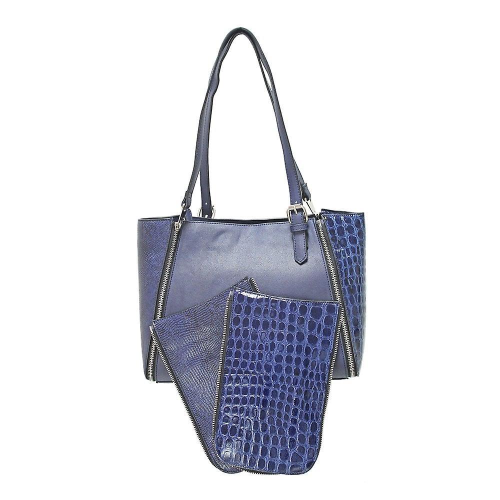 Envy Bags Panel Change Shoulder Bag - Navy Print