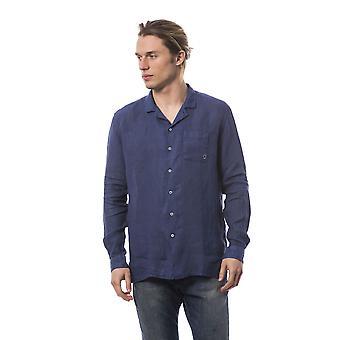 Chemises manches longues Bleu Bagutta homme