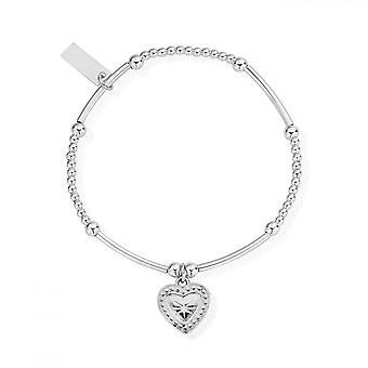 ChloBo Silber süße Mini Star Herz Armband