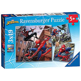 Ravensburger Marvel Spindelmannen, 3 x 49pc pussel