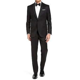 Tuxedo with a curved cut satin shawl collar