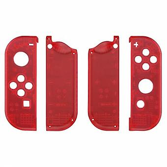 Housing shell for nintendo switch joy-con controller hard casing replacement - transparent red | zedlabz