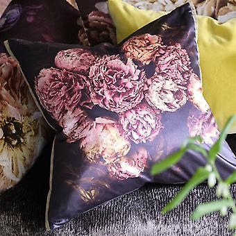 Designers Guild Vespertina Sepia Floral Cushion In Sepia Pink