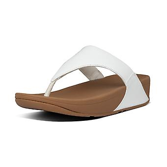 FitFlop Lulu™ Leather Toe Post Sandals In White