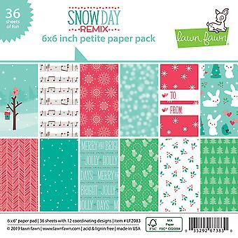 Nurmikko Fawn Snow Day Remix Petite 6x6 tuuman paperi pack