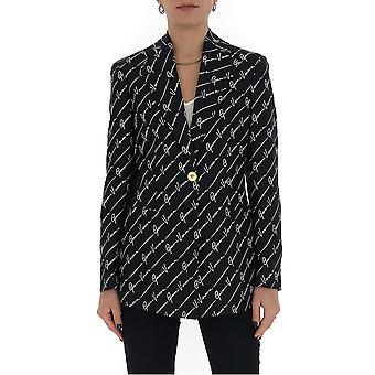 Versace A85699a233023a7008 Damen's Schwarze Seide Blazer