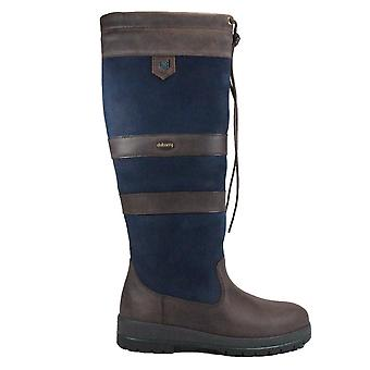 Dubarry Galway Medium Leg Width Navy Leather Womens Pull On Long Leg Boots