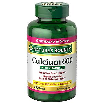 Nature's bounty calcium 600 met vitamine d3, tabletten, 250 ea