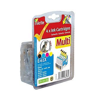 Inkrite NG Printer Ink 4 Col Pack for Epson D68 D88 DX3800 DX4800 - T0611 T0612 T0613 T0614 (Koala)