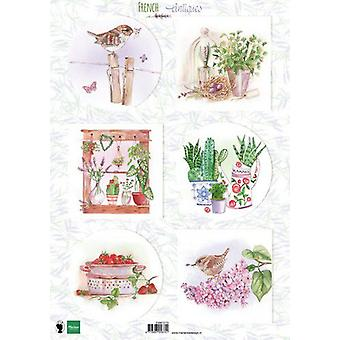 Marianne Design Decoupage sheets French antiques herbs EWK1273 A4 (03-20)
