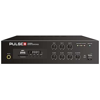 Pulse 40w Compact 100v Versterker met Mp3 en Bluetooth