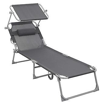 Krzesło plażowe / łóżko plażowe z filtrem przeciwsłonecznym