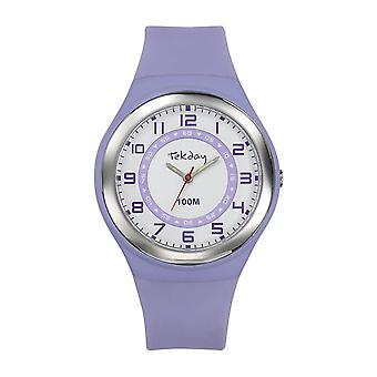 Tekday 654651 Watch - Silicone Violet Women's Silicone Case