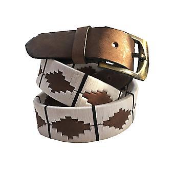 Carlos diaz unisex  brown leather  polo belt cdupb23