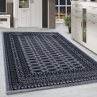 Klassieke Orient Rug Border traditionele patroon woonkamer tapijt grijs