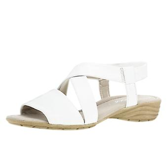 Gabor Ensign Modern Sling-back Sandals In White