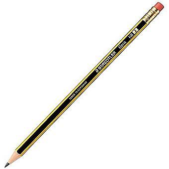 Staedtler Noris HB Pencils With Eraser Tips (Pack of 3)