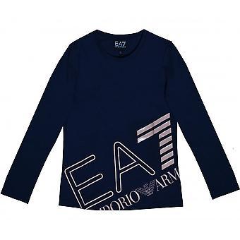 EA7 Girls EA7 Girl's Navy Blue T-Shirt