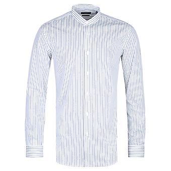 BOSS Formale Jordi Henley Slim Fit Camicia a righe bianche