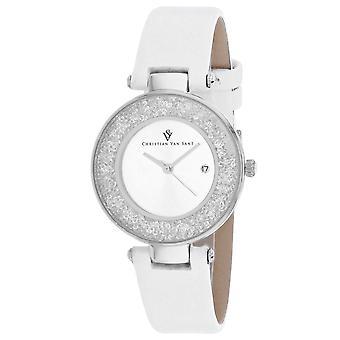 Christian Van Sant Women's Dazzle Silver Dial Watch - CV1220