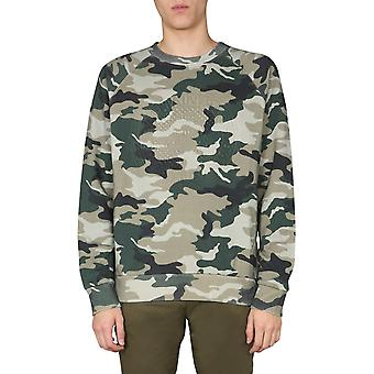 Balmain Th13998i2107ua Men's Camouflage Cotton Sweatshirt