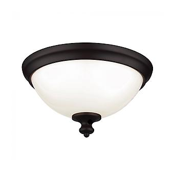 Parkman Ceiling Lamp, Oil-rubbed Bronze And Opal Glass