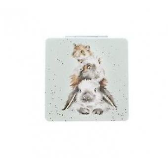 Wrendale Compact Mirror'Piggy in the Middle'