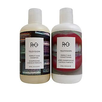 R+Co Television Perfect Hair Shampoo & Conditioner Set 8 OZ Each